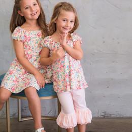Isobella & Chloe Jolie 2pc Knit Tunic & Pant Set - Sherbert