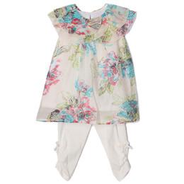 Isobella & Chloe Fleurette 2pc Floral Tunic & Legging Set - Cream