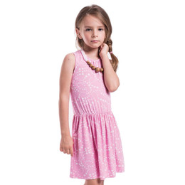 Imoga Pat Swirling Hearts Print Knit Dress w/Wooden Necklace - Heart Candy