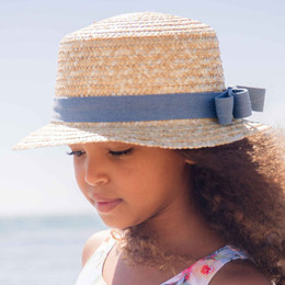 Blueberry Bay Dream Weaver Boater Hat