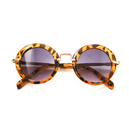 Blueberry Bay Round Sunnies - Brown Cheetah