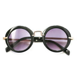 Blueberry Bay Round Sunnies - Black