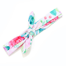Blueberry Bay Swim Headwrap - White & Pink Floral