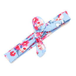 Blueberry Bay Swim Headwrap - Blue & Red Floral