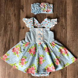 Serendipity Clothing  Enchanted Meadows 2pc Skirted Bubble & Headband