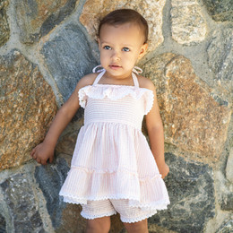 Little Prim  Castles In The Sand Sydney 2pc Tunic & Short Set - Bubblegum