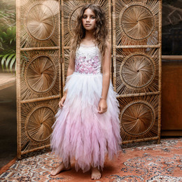 Tutu Du Monde  Wild Hearts Wild Rose Long Tutu Dress - Milk Mix