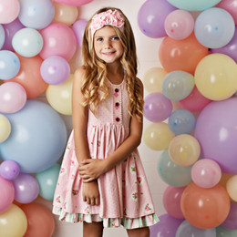 Swoon Baby by Serendipity  Pink Posie Prim Tier Dress