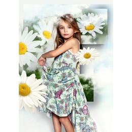 Paper Wings  Bustle Single Dress - Butterfly Daisies