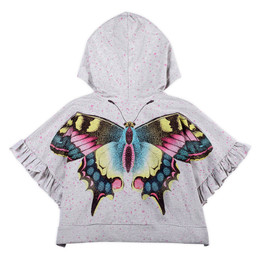 Paper Wings  Oversized Frilled Hoodie - Star Butterfly