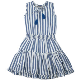 Jak & Peppar   Wild World Angelique Dress - Navy Stripe