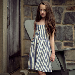 Jak & Peppar   Wild World Riley Dress - Navy Stripe