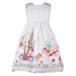 Cotton Kids Summer Garden Picnic Dress