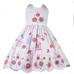 Cotton Kids White Wonders Folk Embroidered Dress