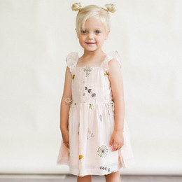 Lali Kids The Botanist's Daughter Pinafore Dress - Pressed Flowers