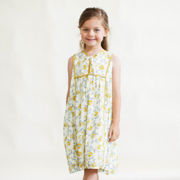Lali Kids The Botanist's Daughter Midi Dress - Mustard Flowers