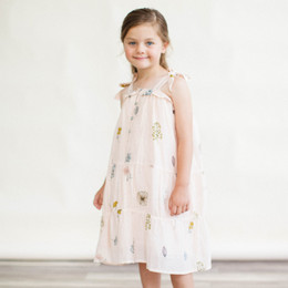 Lali Kids The Botanist's Daughter Dahlia Dress - Pressed Flowers