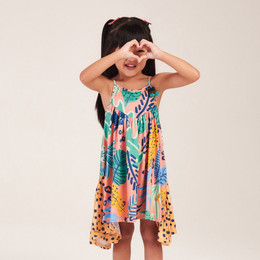 Mon Sucre Jungle & Cheetah Print Dress