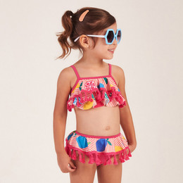 Mon Sucre Fruity Tassel 2pc Skirted Swimsuit