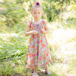 Mimi & Maggie Peony Flowers Grace Dress
