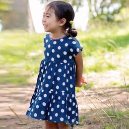 Mimi & Maggie Indigo Dots Hi-Lo Dress