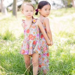 Mimi & Maggie Peony Flowers Sunday Morning Romper