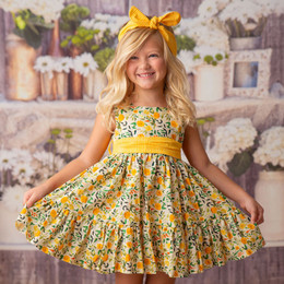 Haute Baby    Marigold Garden Dress