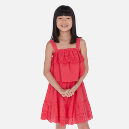 Mayoral   Eyelet Flounce Sundress - Watermelon