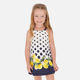 Mayoral   Dots & Lemons Knit Sundress - Navy