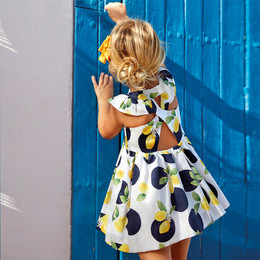 Mayoral   Dots & Lemons Twist Back Dress - Navy