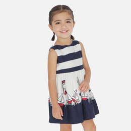 Mayoral   Life Is Beautiful Sailor's Delight Sundress - Navy
