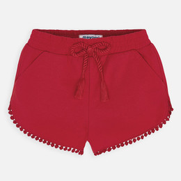 Mayoral   Knit Shorts w/Embroidered Hem - Red