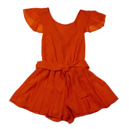 Mayoral   Monkey Cross Back Romper - Persimmon