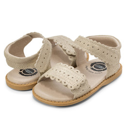 Livie & Luca Posey Sandals - Gold Shimmer
