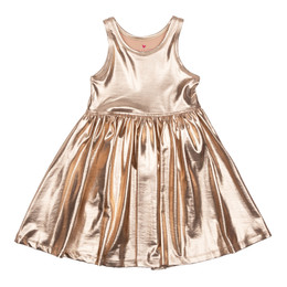Pink Chicken Liza Lame Dress - Rose Gold