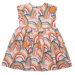 Pink Chicken Winnie Dress - Cloud Pink Rainbows