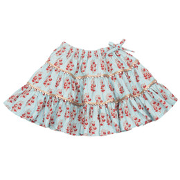 Pink Chicken Allie Skirt - Milky Blue Vintage Floral