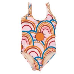 Pink Chicken Claire Swimsuit - Cloud Pink Rainbows