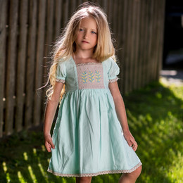 Little Prim    Lily Tree Ember Dress - Sky Blue