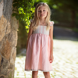 Little Prim    Lily Tree Isadora Dress - Bubblegum Bisque