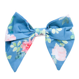 Be Girl Clothing  Classic Bow - Blue Floral