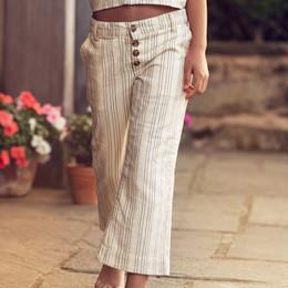Jak & Peppar    Road Trip Jasmine Pant - Vanilla Stripe