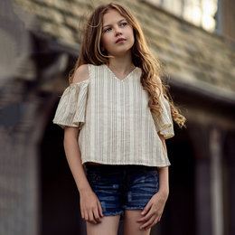 Jak & Peppar    Road Trip Mellow Yellow Top - Vanilla Stripe