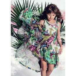 Paper Wings    Frilled Swing Dress - Protect