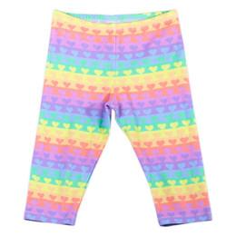 Paper Wings    3/4 Leggings - Rainbow Heart Stripe