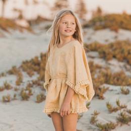 Rylee & Cru Hometown Eyelet Beach Kaftan - Citron