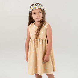 Rylee & Cru Hometown Sunburst Layla Dress - Citron