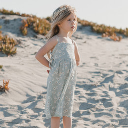 Rylee & Cru Hometown Daisy Lacy Dress - Sky