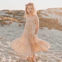 Rylee & Cru Hometown Flower Field Tiered Maxi Dress - Natural