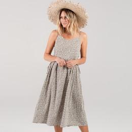 Rylee & Cru Hometown Flora Lacy Dress (Tween/Women) - Olive